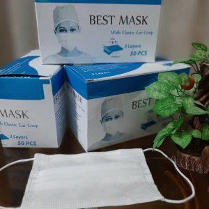 ماسک سه لایه پزشکی با لایه بایکو – 50 تایی
